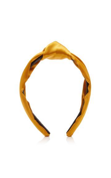 Lele Sadoughi Knotted Silk-satin Headband