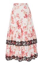 Jill Stuart Bijou Cotton Poplin Midi Skirt