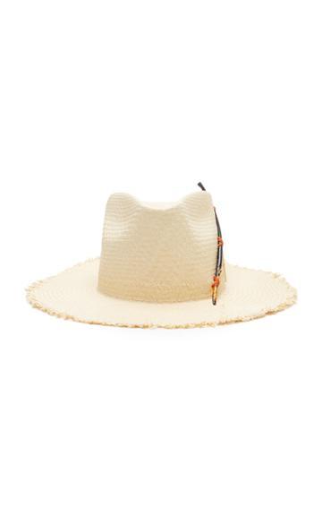 Nick Fouquet Black Bird Straw Hat