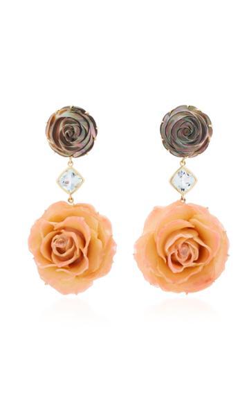 Bahina Rose 18k Gold Multi-stone Earrings