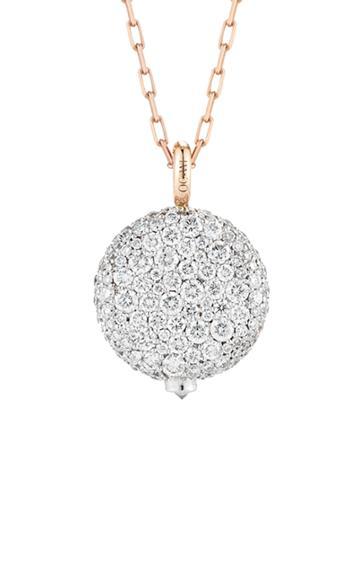 Walters Faith Chantecaille Diamond-pendant 18k White And Rose-gold Nec