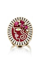 Holly Dyment Holly Red Enamel Portrait Ring