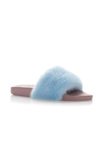 Dolce & Gabbana Faux Fur Slippers