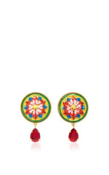 Dolce & Gabbana Flower Clip Earrings