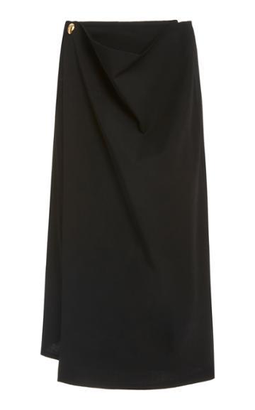 Bottega Veneta Wrap-detailed Wool Skirt