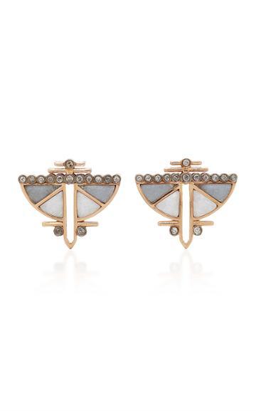 Ioanna Souflia Marble Earrings