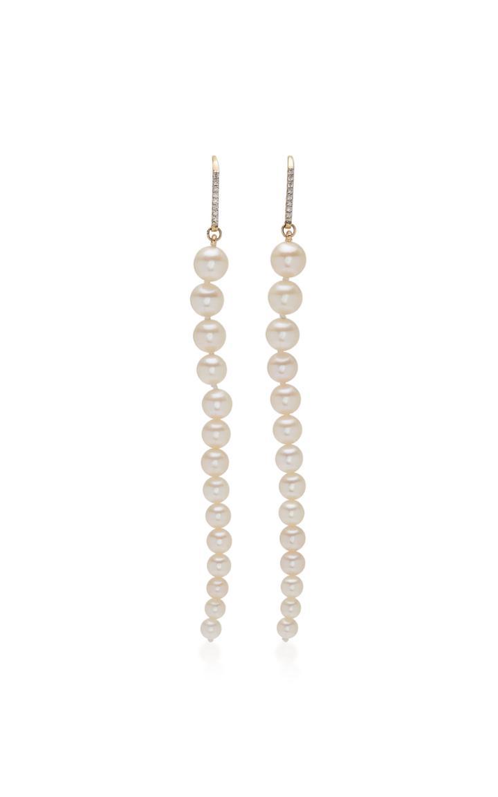Mateo Graduated 14k Gold & Pearl Danglers Earrings