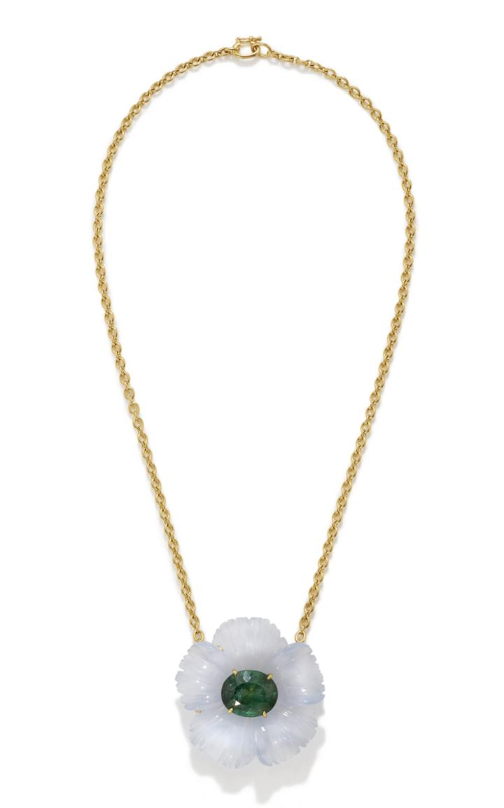 Moda Operandi Irene Neuwirth One Of A Kind Tropical Flower Necklace Set With Chalced