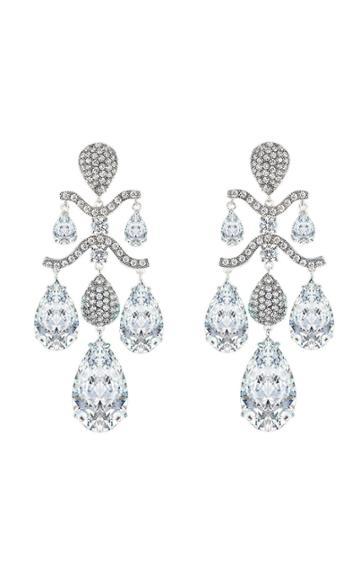 Moda Operandi Anabela Chan 18k White Gold Diamond Chandelier Earrings