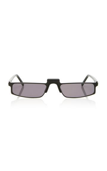 Andy Wolf Eyewear Muhren Rectangular Framed Metal Sunglasses