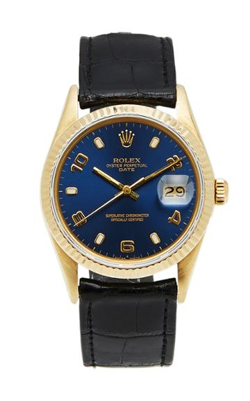 Vintage Watches Vintage Rolex Date Black Croc 34mm