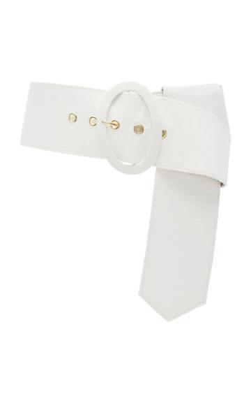 Cult Gaia Lia Linen And Cotton-blend Belt