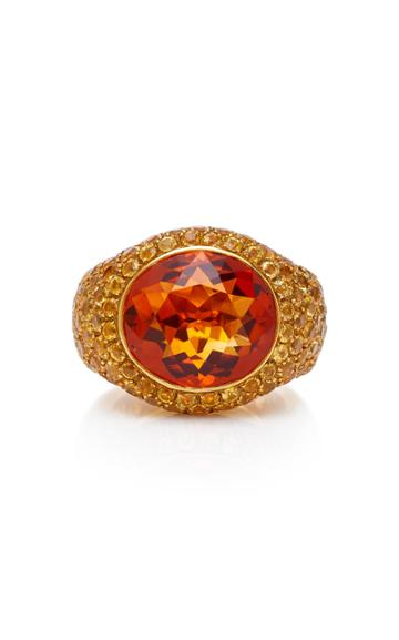 Gioia 18k Gold Citrine And Yellow Sapphire Ring