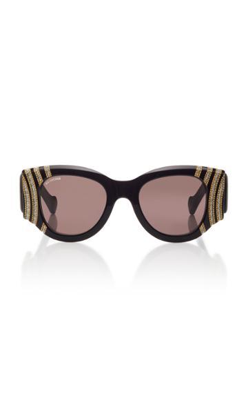 Balenciaga Crystal Round-frame Acetate Sunglasses
