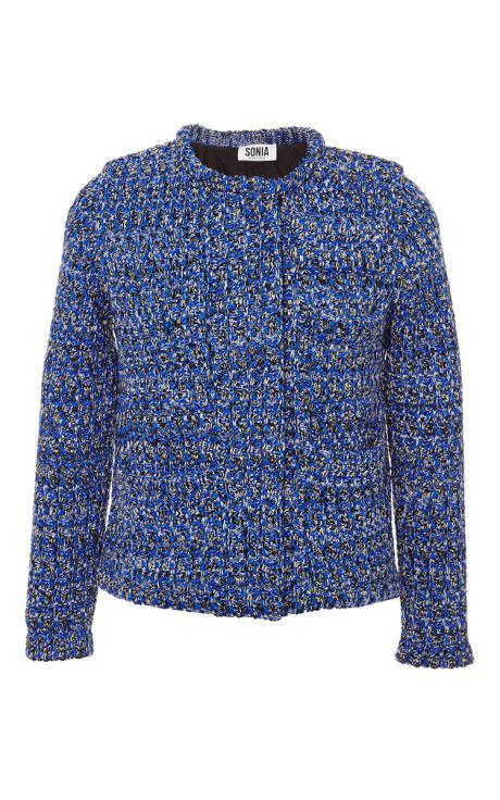 Sonia Rykiel Tweed Jacket Indigo
