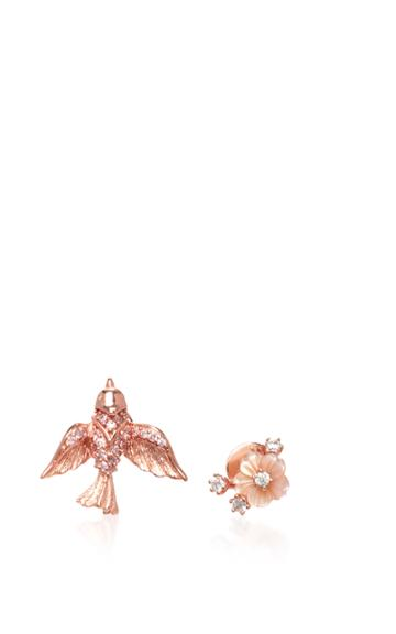 Anabela Chan 14k Rose Gold Diamond And Pearl Earrings