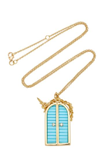 Brent Neale M'o Exclusive Small Door Pendant Necklace With Floral Archway (18)
