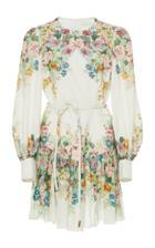 Moda Operandi Zimmermann Wavelength Bell Sleeve Mini Dress Size: 0