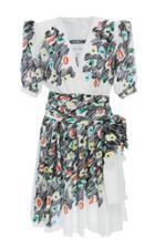 Moschino Printed Silk Crepe Dress