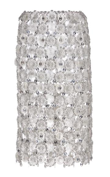 Paco Rabanne Floral Chain-link Skirt