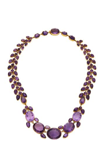 Simon Teakle Antique Amethyst Necklace
