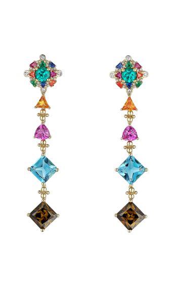 Moda Operandi Anabela Chan 18k Yellow Gold Tropical Paradise Drop Earrings