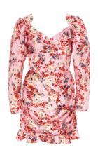 Moda Operandi Markarian Balthasar Floral Ruched Mini Dress Size: 0