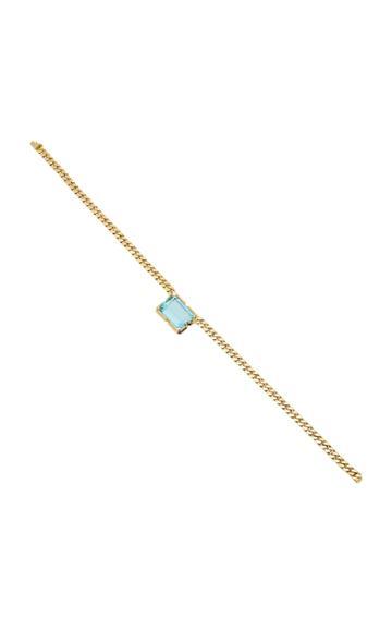 Jill Heller Vintage Vintage Unsigned 18k Gold And Aquamarine Necklace