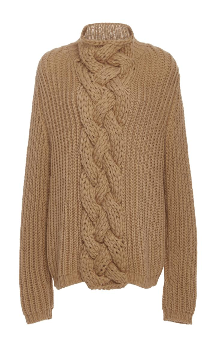 Hensely Cableknit Turtleneck Sweater