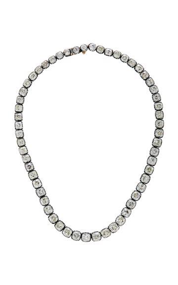 Nina Runsdorf Rare Cushion-cut Diamond Riviere Necklace