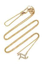 Sydney Evan Pave Aquarius Zodiac Sign Necklace
