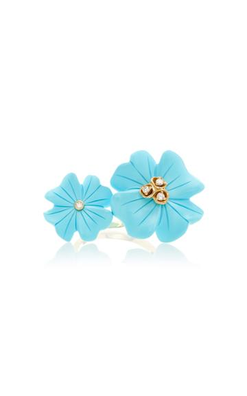 Brent Neale M'o Exclusive Small & Large Clover Double Sided Ring