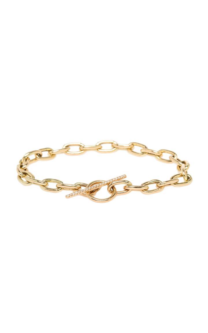 Zoe Chicco 14k Yellow Gold And Diamond Toggle Bracelet