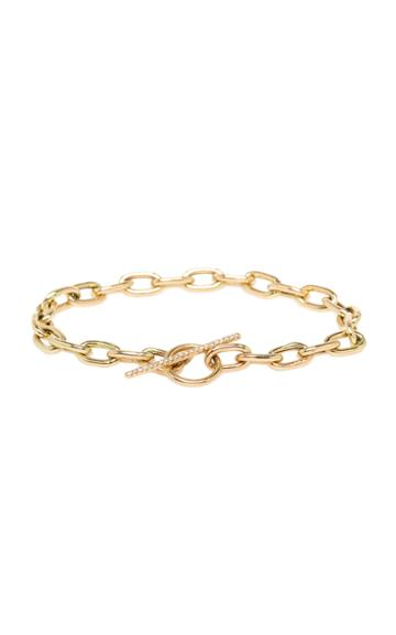Zoe Chicco 14k Yellow Gold And Diamond Toggle Bracelet