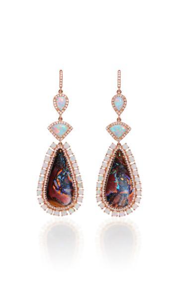 Nina Runsdorf M'o Exclusive One-of-a-kind Lambina Opal Earrings