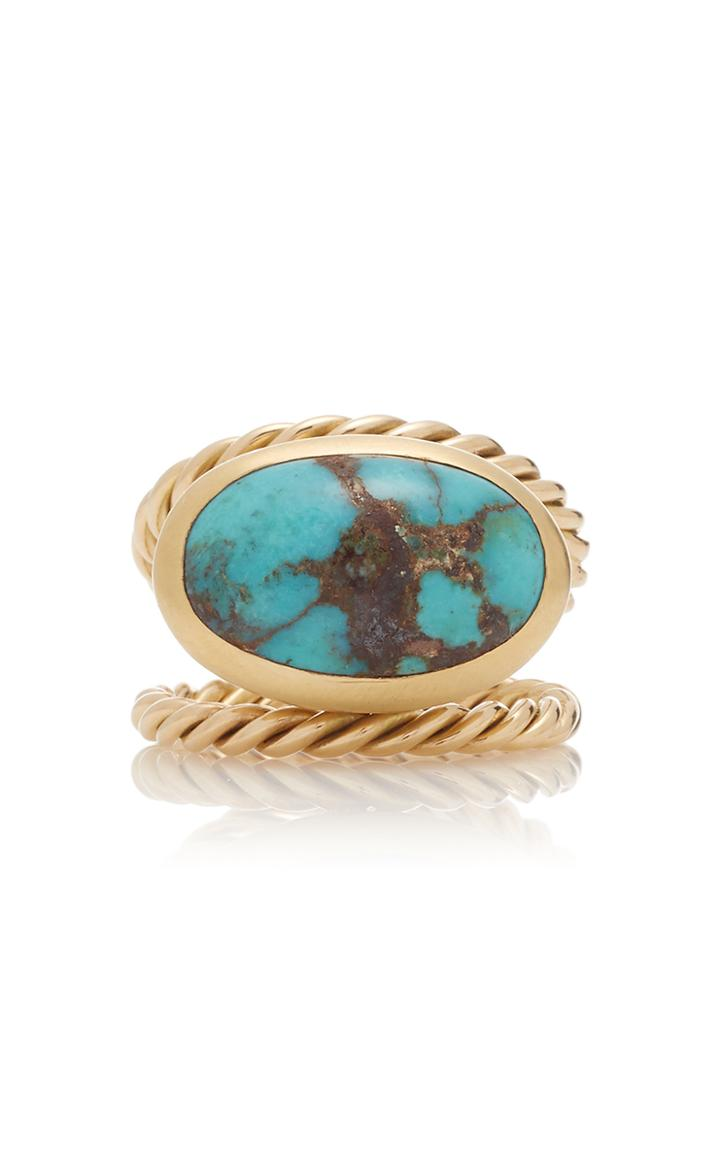 Haute Victoire 18k Gold Turquoise Ring
