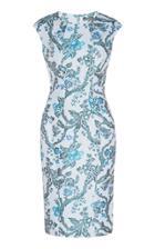 Moda Operandi Zac Posen Floral Jacquard Dress Size: 0