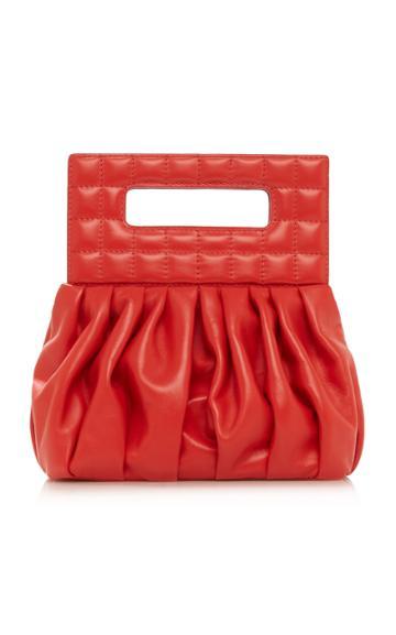 Moda Operandi A.w.a.k.e. Mode Small Gathered Leather Crossbody Bag