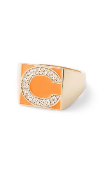 Moda Operandi Alison Lou Superlou Diamond Letter Ring