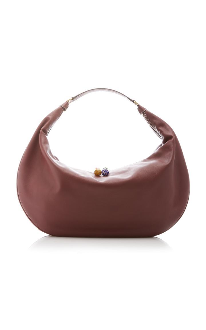 Moda Operandi Staud Large Shasha Leather Hobo Shoulder Bag