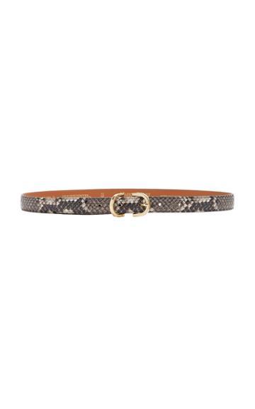 Maison Boinet Snake-effect Leather Belt