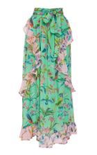 Banjanan Tricia Print Silk Chiffon Maxi Skirt