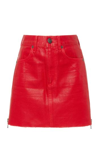 Jean Atelier Debbie Coated Denim Mini Skirt