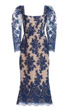 Moda Operandi Marchesa Floral Midi Dress