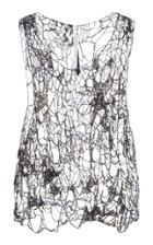 Poiret Embroidery Mesh Tank Top
