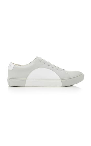 They New York White And Grey Circle Low Sneaker