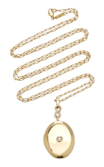 Moda Operandi Monica Rich Kosann 18k Yellow Gold Infinity Diamond Locket