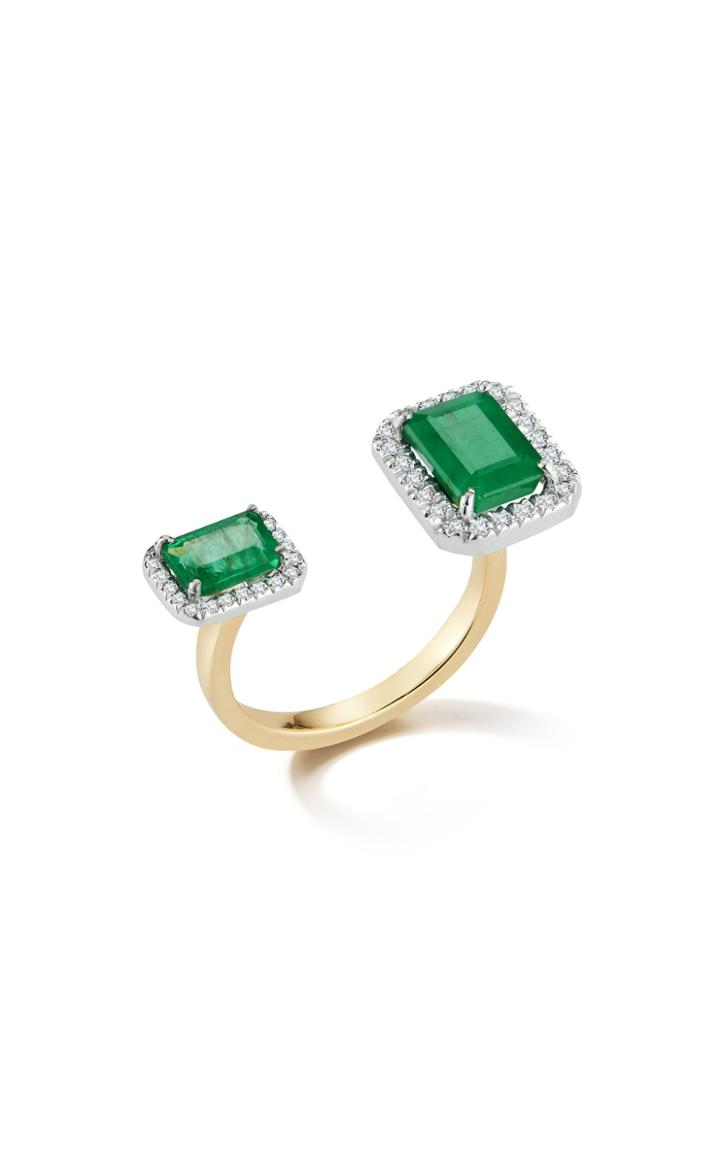 Mateo X Muzo 14k Gold Emerald And Diamond Ring