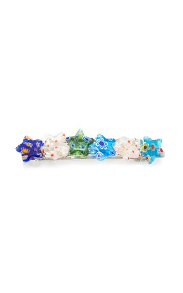 Timeless Pearly Glass Star Barrette