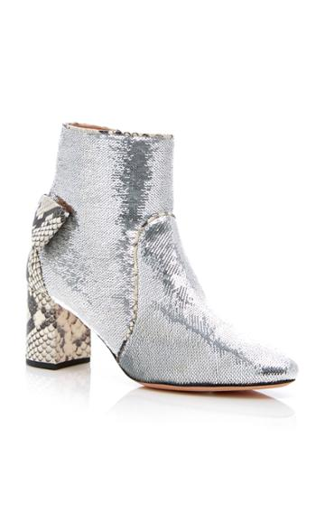 Rochas Metallic Ankle Boot